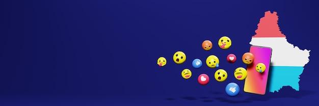 Используйте смайлик из социальных сетей в люксембурге для нужд телевидения и веб-сайтов в социальных сетях