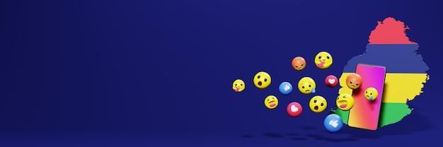 Используйте смайлик из социальных сетей на маврикии для нужд телевидения и веб-сайтов в социальных сетях