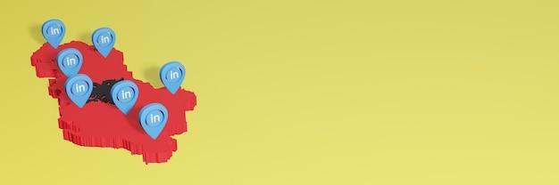 소셜 미디어 tv 및 웹 사이트 배경 커버 공백의 필요를 위해 알바니아에서 linkedin 사용