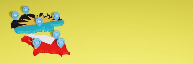 Antiqua barbuda에서 소셜 미디어 tv 및 웹 사이트 배경 커버의 요구 사항에 대한 linkedin 사용