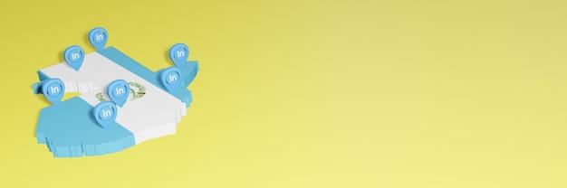 소셜 미디어 tv 및 웹사이트 배경 표지의 필요를 위해 과테말라에서 linkedin 사용