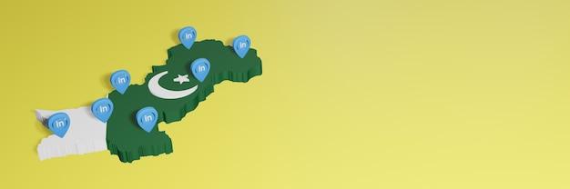 소셜 미디어 tv 및 웹사이트 배경 커버의 필요성에 대한 파키스탄의 linkedin 사용