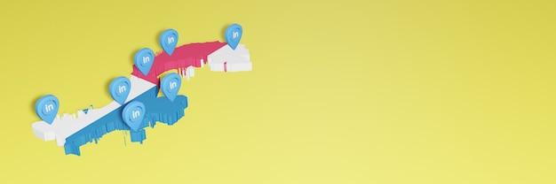 소셜 미디어 tv 및 웹 사이트 배경 커버 공백의 필요를 위해 파나마에서 linkedin 사용