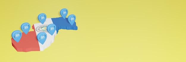소셜 미디어 tv 및 웹사이트 배경 커버의 필요성에 대한 파라과이의 linkedin 사용