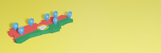 소셜 미디어 tv 및 웹사이트 배경 커버의 필요성에 대한 포르투갈의 linkedin 사용