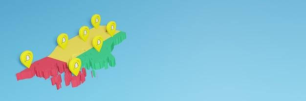 ソーシャルメディアテレビとウェブサイトの背景カバーのニーズのためのギニアビサウでのsnapchatの使用