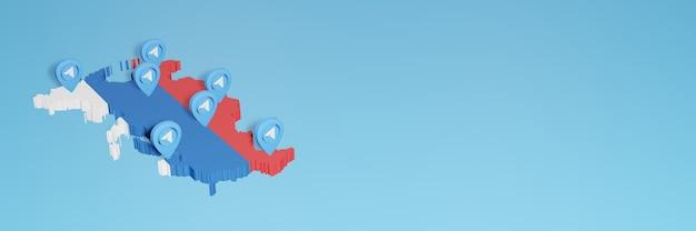 Использование социальных сетей и telegram в россии для создания инфографики в 3d-рендеринге