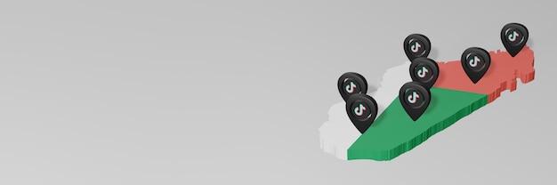 Использование социальных сетей и tik tok на мадагаскаре для создания инфографики в 3d-рендеринге