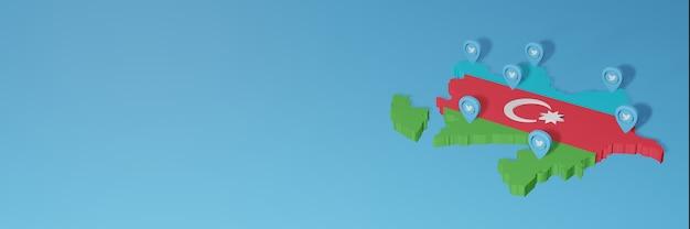 3dレンダリングのインフォグラフィックのためのアゼルバイジャンのソーシャルメディアとtwitterの使用