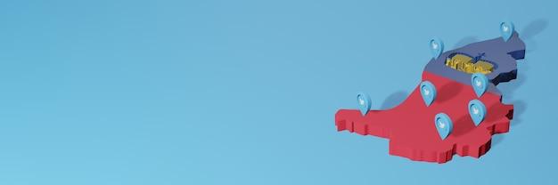 Использование социальных сетей и twitter в лихтенштейне для создания инфографики в 3d-рендеринге