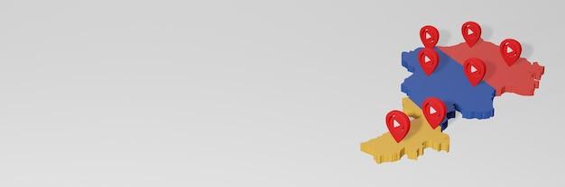 Использование социальных сетей и youtube в армении для создания инфографики в 3d-рендеринге