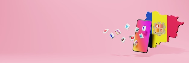 Использование wa fb ig youtube и tiktok в андоре для тв и фоновой обложки веб-сайтов
