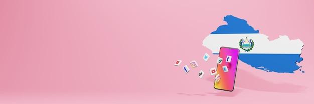 Использование wa fb ig youtube и tiktok в савадоре для нужд телевидения и создания веб-сайтов