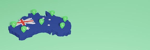 소셜 미디어 tv 및 웹사이트 배경 커버의 필요성에 대한 호주의 whatsapp 사용