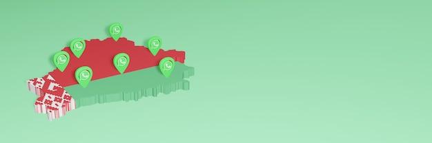 소셜 미디어 tv 및 웹 사이트 배경 커버 공백의 필요를 위해 벨로루시에서 whatsapp 사용