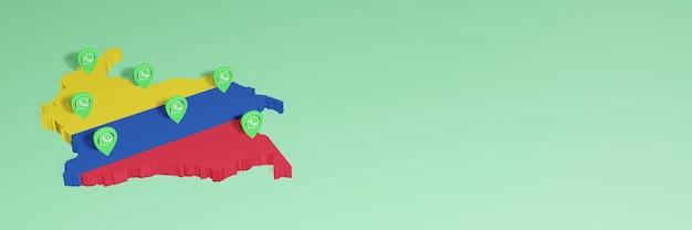 소셜 미디어 tv 및 웹사이트 배경 커버의 필요성을 위해 콜롬비아에서 whatsapp 사용