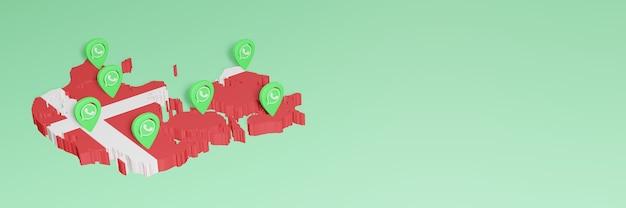 덴마크에서 whatsapp을 사용하여 소셜 미디어 tv 및 웹 사이트 배경 커버 공백 공간 필요