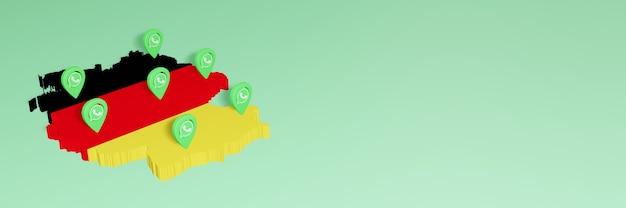 소셜 미디어 tv 및 웹 사이트 배경 커버 공백의 필요성에 대한 독일의 whatsapp 사용