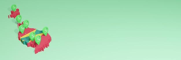 소셜 미디어 tv 및 웹 사이트 배경 커버 공백의 필요를 위해 그레나다에서 whatsapp 사용