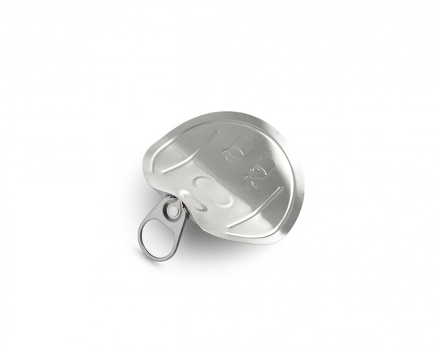 Used metal can lid isolated