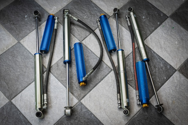 Used shock absorber with sub tank can adjustable softness for the car.