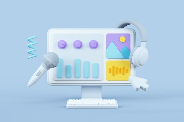 User interface design background media elements configuration