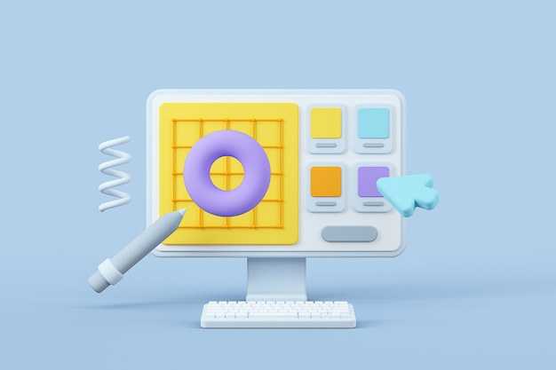 User interface design background object color and options