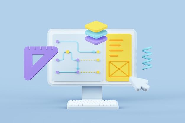User interfaceexperience design background 3
