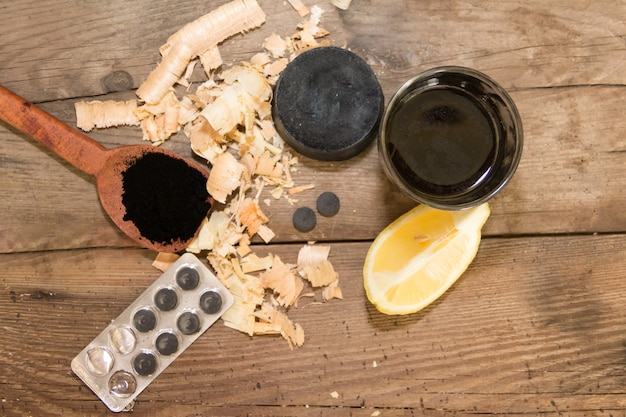 Uses of activated carbon in cosmetics and medicine