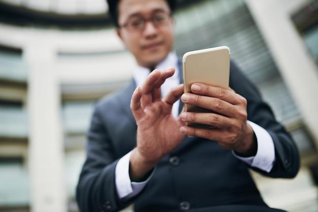 Using mobile app
