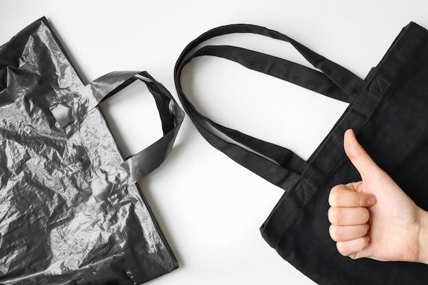 Using a reusable textile bag prioritize the plastic bag