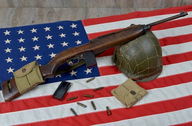 軍用ヘルメット付きusm1カービン
