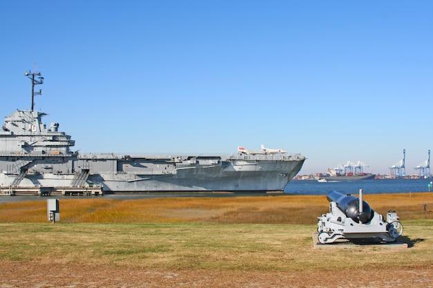 Uss yorktown aircraft carrier in charleston, south carolina, usa