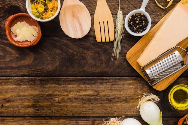 Utensili e ingredienti da cucina