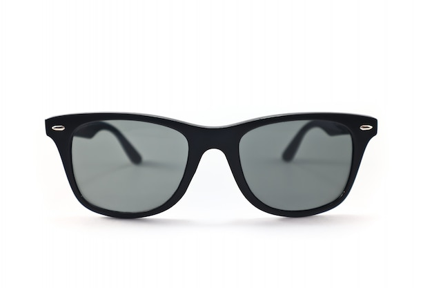 Uv protection eyeglasses in circle shape and dark lens color