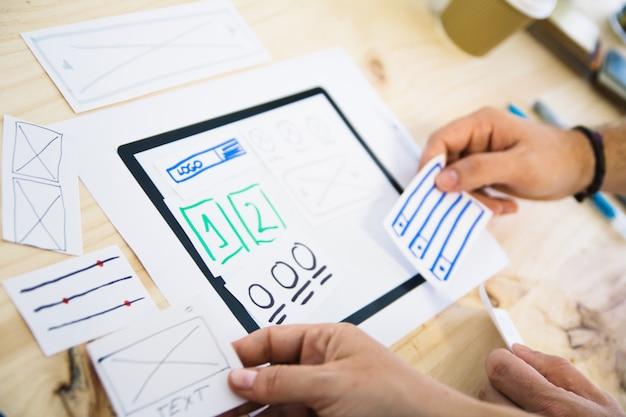 Ux tablet design