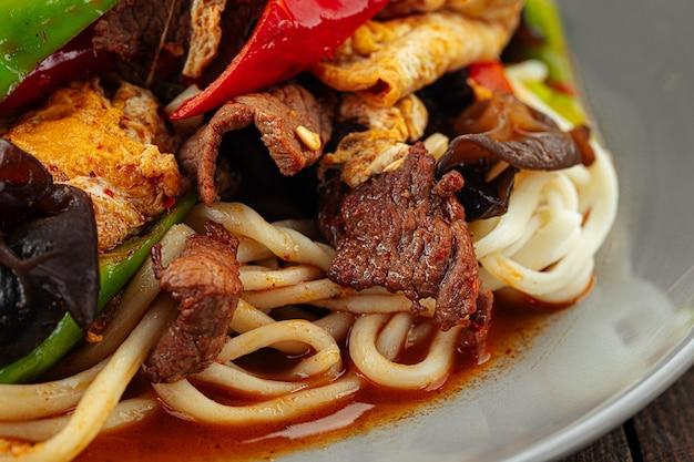 Лапша уйгурский гуйру лагман с ушными грибами