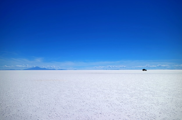 Uyuni salt flats or salar de uyuni, the world's largest salt flats, in bolivia, south america