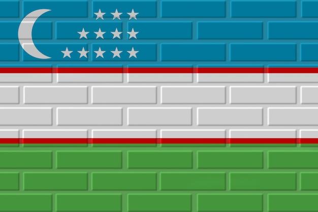 Иллюстрация кирпичного флага узбекистана