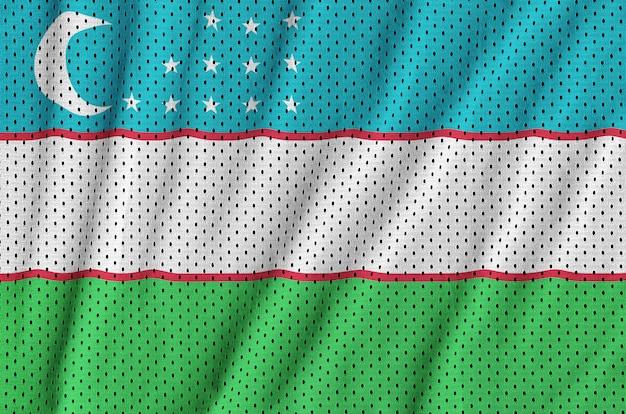 Флаг узбекистана с принтом на сетке из полиэстера и нейлона