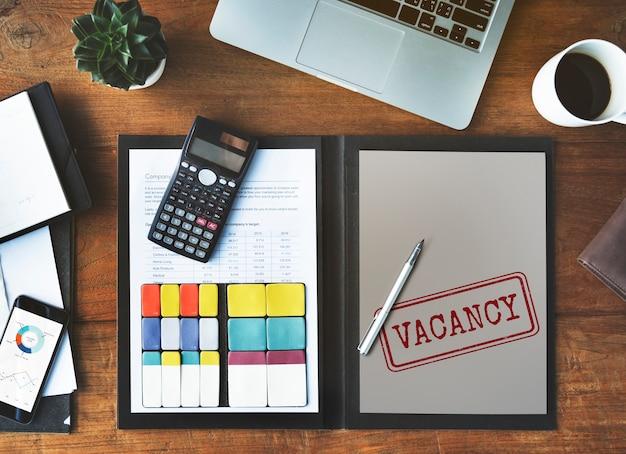 Lavoro vacante ricerca hotel occupazione lavoro concept