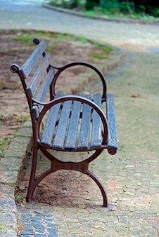 Vacant public bench in the square