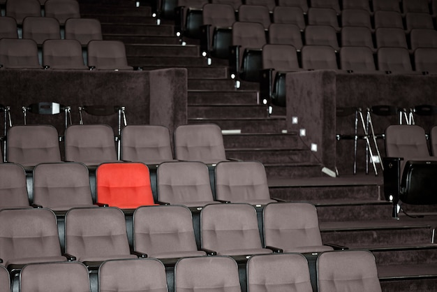 Vacant seats of a theater