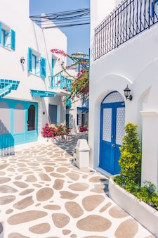 Vacation greece white traditional house