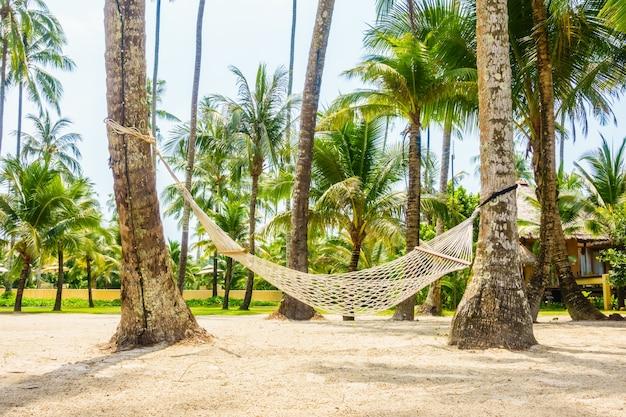 Vacation sunset resort blue island