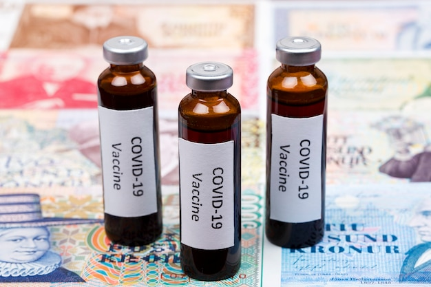 Vaccine against covid-19 on the background of icelandic krona