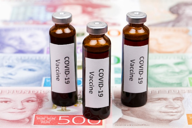 Vaccine against covid-19 on the background of swedish krona