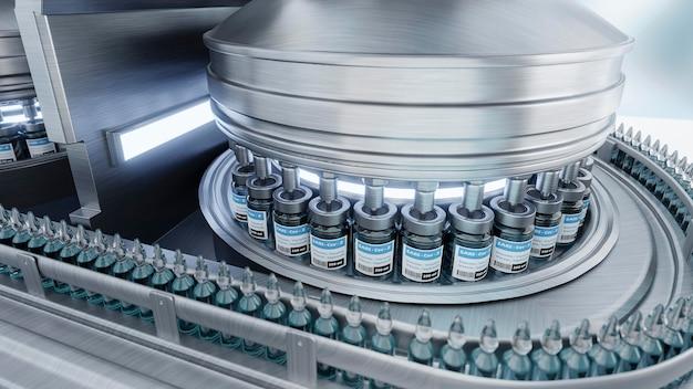 機械によるワクチン製造