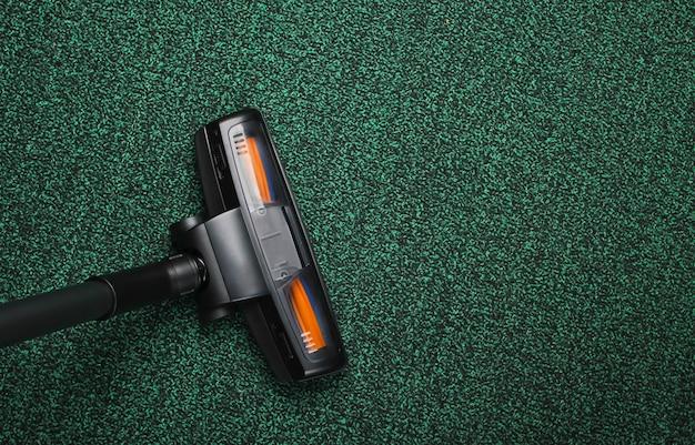 Vacuum cleaner brush on carpet