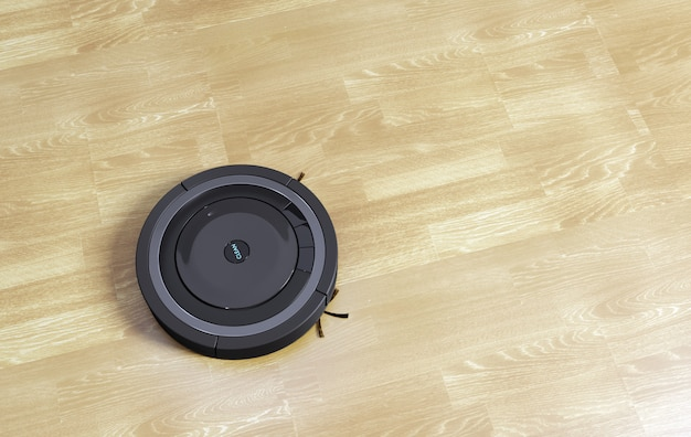 Vacuum cleaner robot 3d illustration